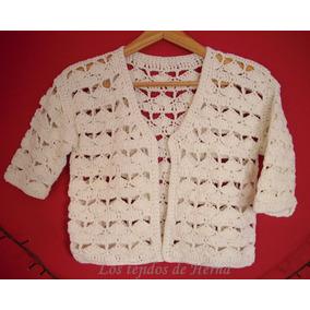 Saquito - Bolero De Algodón Tejido En Crochet