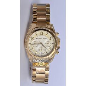 30b77c53e Relógio Michael Kors Mk5166 Dourado Original / Sedex Gratis