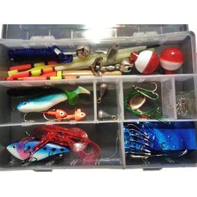 Liquidacion Kit De Pesca C/estuche Anzuelos Señuelos Plomos