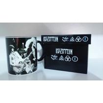 Caneca Com Caixinha Em Mdf Personalizada Led Zeppelin