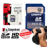 Tarjeta De Memoria Sdhc 16gb Clase 4 Kingston Camara Digital