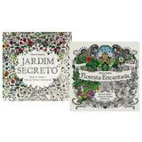 Floresta Encantada + Jardim Secreto Livros Para Pintar