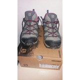 Zapatillas Tracking Salomon Ultra Prime Cs Wp W Gris Rosa