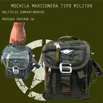 2 Mochilas Mariconera Tipo Militar Negro Mas Soporte Magneti