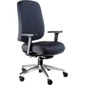 Cadeira Ergonomica Presidente, Base Rhodes Aluminio Polido