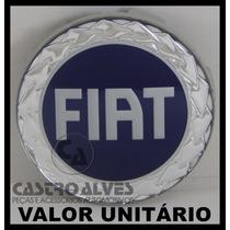 Calota Tampa Miolo Centro Roda Esportiva Scorro Fiat Azul