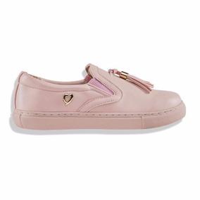 Tenis Slippers Thalia Sodi Flecos Barbas Suela Rosa Pink