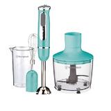 Minipimer Licuadora De Mano Mixer Acero Vaso+picador+batidor