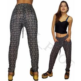Pantalon Babucha Hindu De Seda Fria Elastizada Con Bolsillos