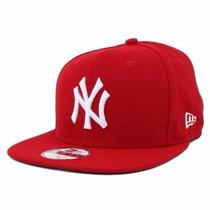 Boné Aba Reta New York Ny Yankees Vermelho Snapback