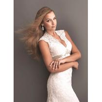 Vestido Longo De Casamento Noiva Estilo Sereia Calda Pequena