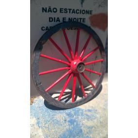 Gigante Roda Ferro Antiga Carruagem Orig. Época Carroça