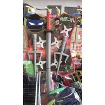 Kit Tartaruga Ninja. Mascara, Espada E 2 Espada Sai!
