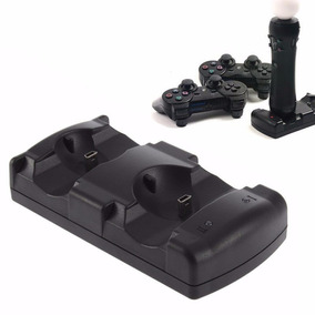 Kit Base Charging Dock 2 Em 1 Controles Joystick Ps3 + Fonte