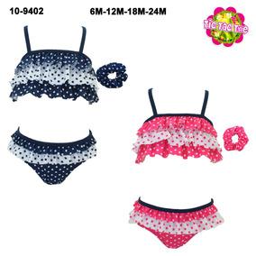 Bikini A Lunares Con Volados 6 A 24 Meses Para Nenas Y Bebas