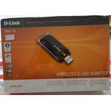 Placa De Rede S/fio Dlink-usb Dwa-110 Novo A Pronta Entrega