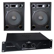 Combo Bafles 15 500w 3 Vias Potencia Amplificador