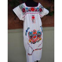 Vestido Bordado Mexicano
