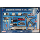 Coleccion De Vehiculos De Linea Aerea United Airlines 19 Pzs