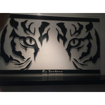 Cuadro Minimalista Mirada De Tigre Arte Diseño Moderno Hogar