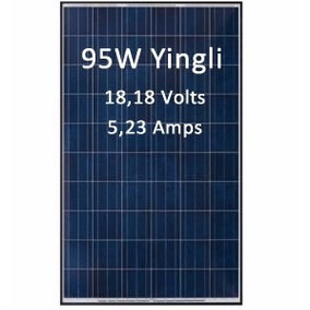 Painel Solar Yingli Yl095p-17b 2/3 Policristalino 95w