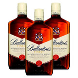 Kit: 3 Whiskys Importado Ballantines Finest 1l 8 Anos