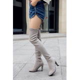 Mei Fashion / Botas Altas Casual / Moda Coreana / Invierno