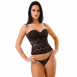 Corselet Lust + Tanga - Sensual Sedutora Sexy Provocante Fet