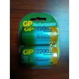Pila Recargable Gp 2200 Tipo D High Power Blister 2 Unidade