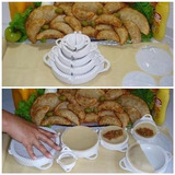 Forma Pastel Risoli Salgados Kit Modelador Massas 5 Formas .