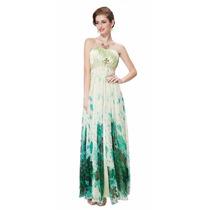 V1321 Vestido Elegante Estampado Verde, It Girls Colombia
