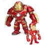 Hulkbuster 17 Cm Metal Jada Toys + Iron Man 7 Cm Raridade