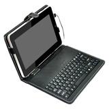 Capa Couro + Caneta Tablet + Teclado Usb Universal7 E 7.7