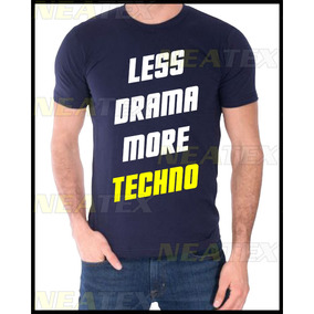 Neatex Remeras Less Drama More Techno Hombre Dama Algodón