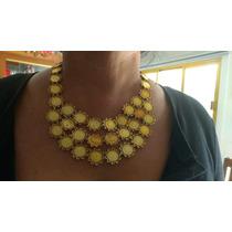 Elegante Collar De Moneda Para Traje Regional De Chapa De Or