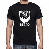 Camiseta Algodão T-shirt Estampada Engraçada Barba Beard