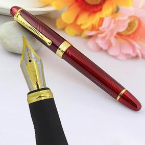 Caneta Tinteiro Luxo Jinhao X450 Vermelha Com Refil