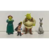 Shrek Princesa Fiona Burro Gato De Botas 4 Bonecos