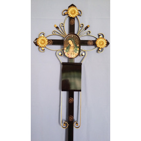 Cruz Metálica Para Panteón Con Nicho 1.20 Mts Alto