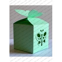 Caja Para Dulces Recuerdo Boda, Xv, Fiesta Diseño Mariposa