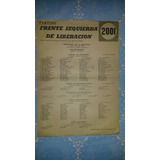 Lista Frente Izquierda De Liberacion Paysandu Eleccion 1967