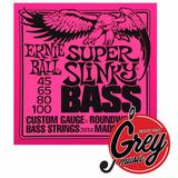 Ernie Ball 2834 Para Bajo 4 Cuerdas 045-100 Super Slinky