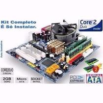 Kit De Placa Ddr2 +processador + Memória. Usado
