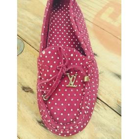 Mocassim Feminino Louis Vuitton Pink Bolinha. Promoção!