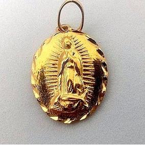 Bonito Dije De La Virgen De Guadalupe Oro Laminado 14k