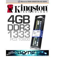 Memoria Ram 4 Gb Ddr3 1333 Mhz Kingston Pc3-10600