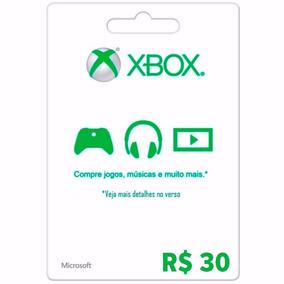 Microsoft Gift Card R$ 30 Reais Cartão Presente Xbox Live Br