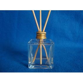 Aromatizador Difusor Frasco De Vidro Cubo 50ml Kit C/10 Peça