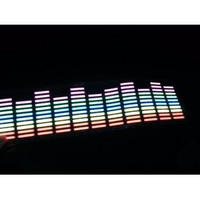 1 Kit Adesivo Equalizador Led Car Music Colorido Vidro Carro