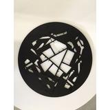 Mandala Decorativa Escultura De Parede Em Aço